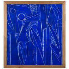 Vintage Blue Painting by Robert Gilberg