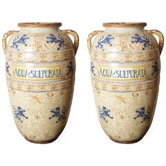 """Italian Painted Urn """"Aqua Sulpurata"""""""