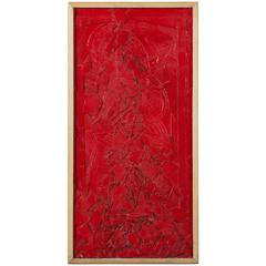 Vintage Red Painting by Robert Gilberg