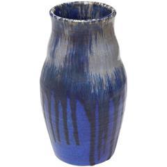 Keramikvase von Ruskin, glasiertes Steinzeug, 1927