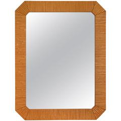 Post-Modern Faux Bamboo Wall Mirror