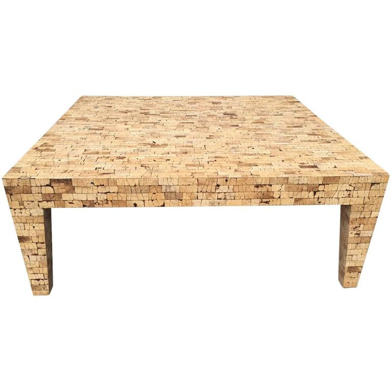 Large Faux Cork Coffee Table For Sale At 1stdibs