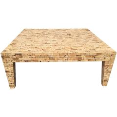 Large Faux Cork Coffee Table
