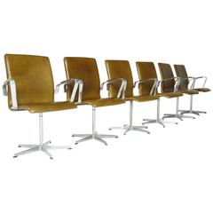 Leather Oxford Chairs by Arne Jacobsen for Fritz Hansen, Early Production - SALE
