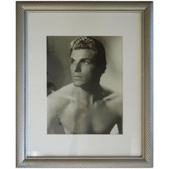 "Original Signed Vintage Hollywood Photo of Larry ""Buster"" Crabbe"