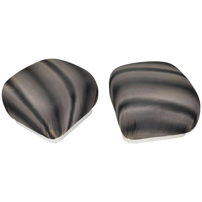 Pair of Souffle Poufs by Weiman