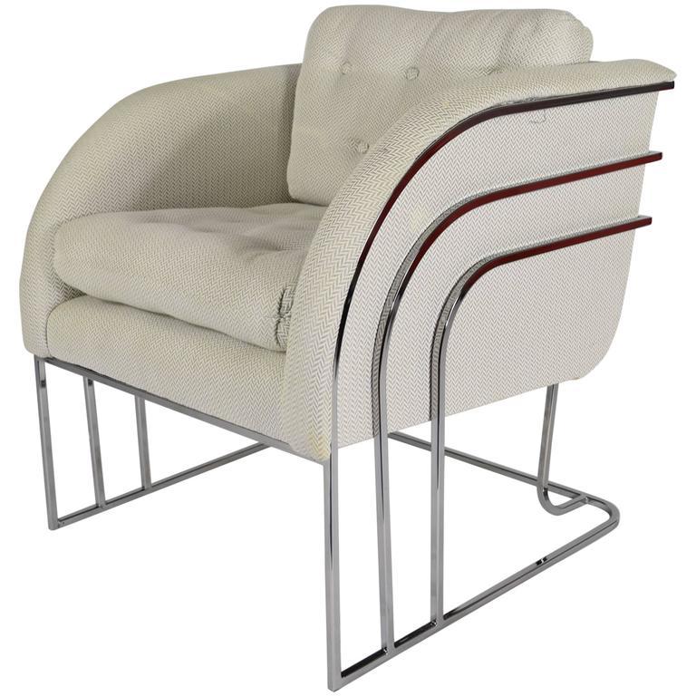 George Mergenov for Weiman/Warren Lloyd Chrome Lounge Chairs