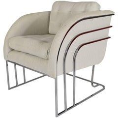 George Mergenov for Weiman/Warren Lloyd Chrome Lounge Chairs