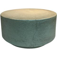 Great Modern Circular Coffee Table or Pedestal Made of Cast Resin