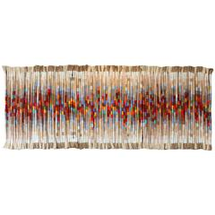 Rare and Monumental Fiber Art Wall Hanging by Kris Dey