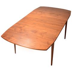 Kipp Stewart for Drexel Walnut Drop-Leaf Dining Table