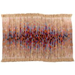 Rare and Important Fiber Art Wall Hanging by Kris Dey