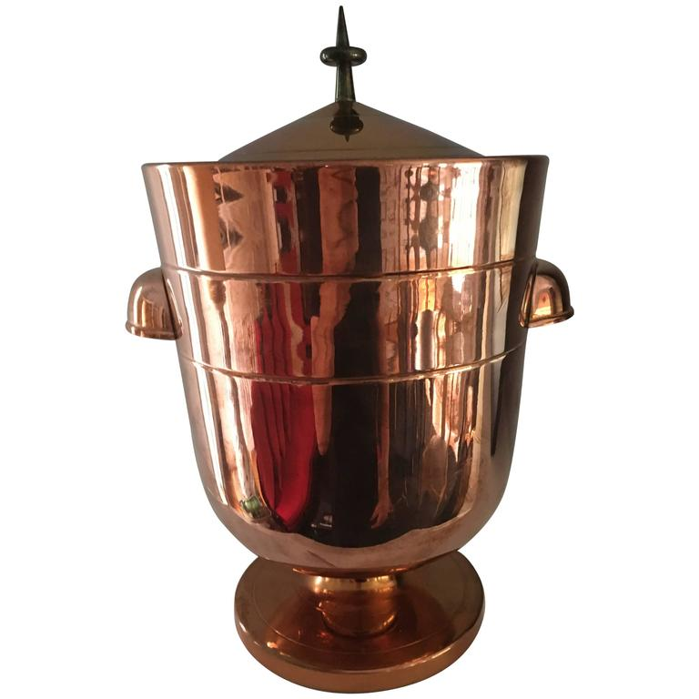 Tommi Parzinger Copper Ice Bucket