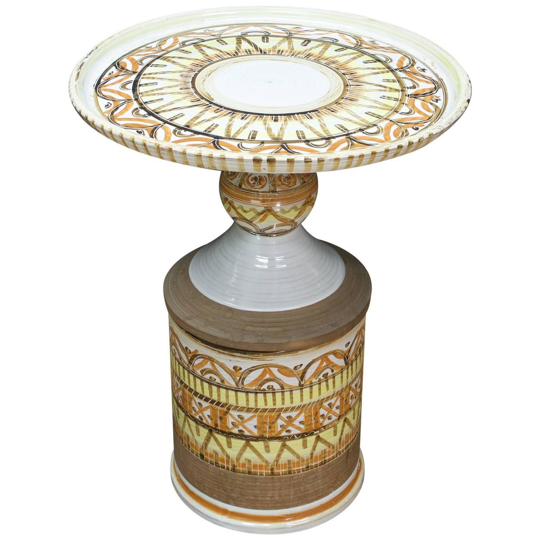 bitossi ceramic petite cocktail table for sale at 1stdibs. Black Bedroom Furniture Sets. Home Design Ideas