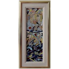 Harris G Strong Reverse Glass Painting
