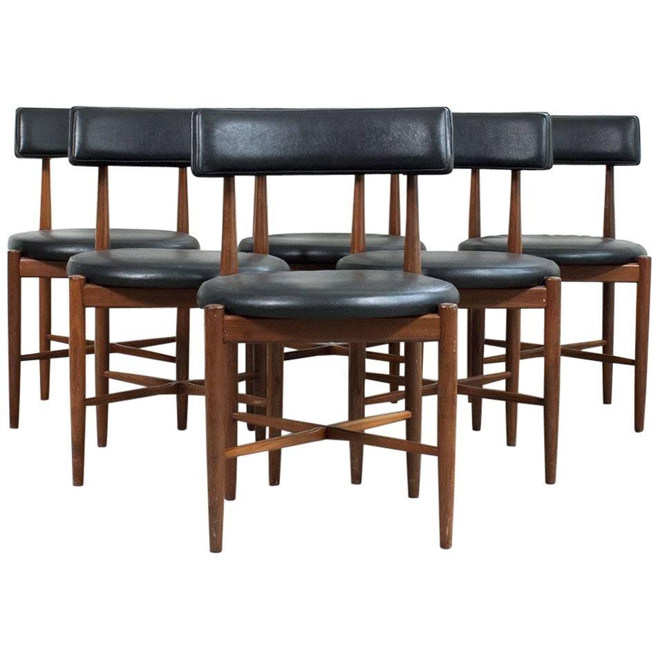 Set of six dining chairs in teak by ib kofod larsen at 1stdibs for G plan teak dining room furniture