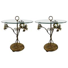 Pair of Gilt Palladio Side Tables, Italy, 1970-1980s