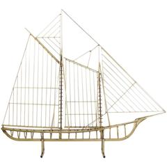 Jere Boat Model, Signed and Dated 1986