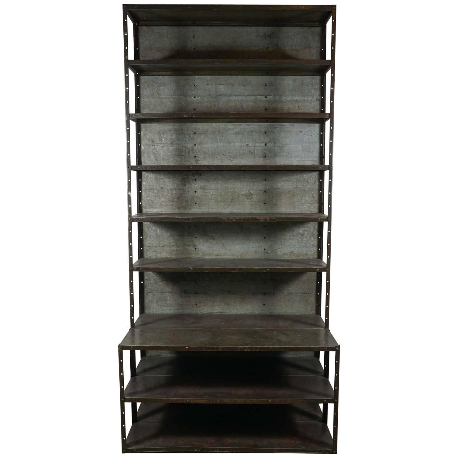 #2C2923 Industrial Gun Metal Bookcase With Extended Base For Sale At 1stdibs with 1500x1500 px of Highly Rated Metal Book Cases 15001500 picture/photo @ avoidforclosure.info