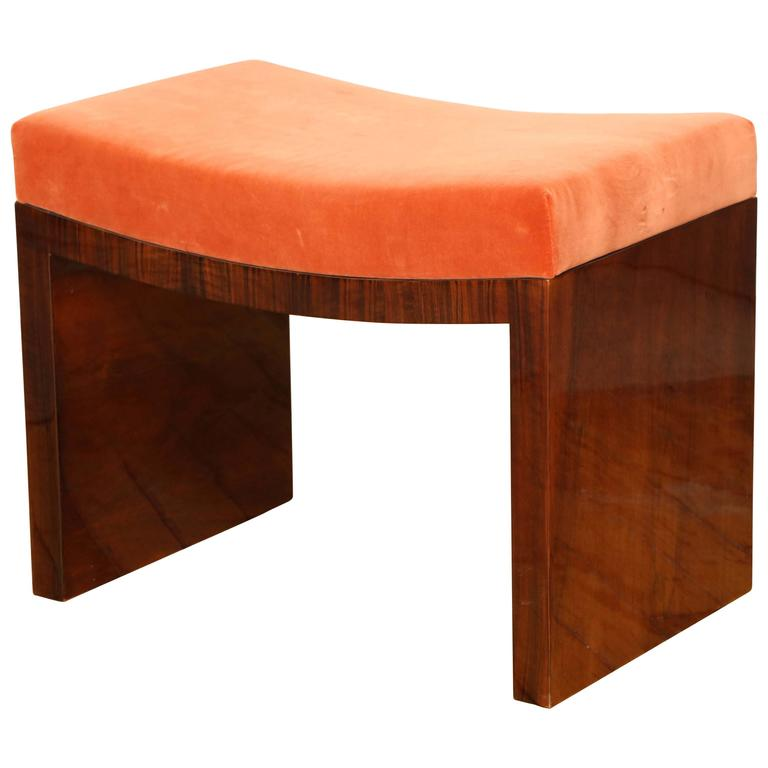 Art Deco Pouf Or Bench At 1stdibs