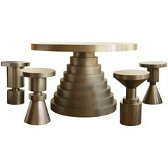 Anna Karlin Brass Layered Dining Table