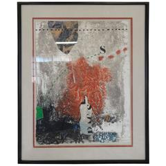 """Signed and Numbered Carborundum Etching by James Coignard 32/50 """"Deviations"""""""