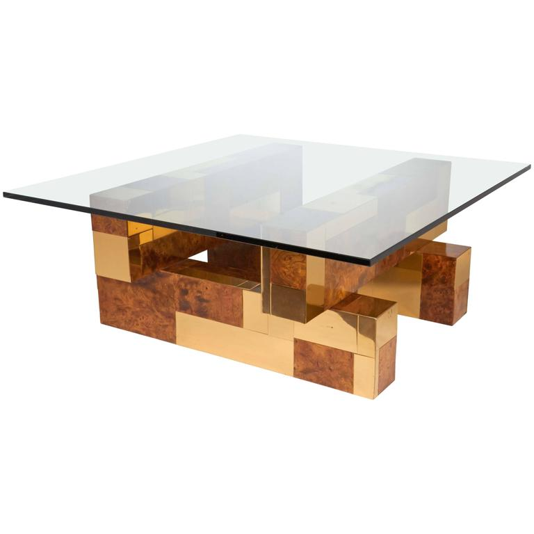 Mid-Century Modern Cityscape Coffee Table by Paul Evans