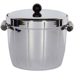 Art Deco Chrome and Bakelite Ice Bucket by Manning Bowman