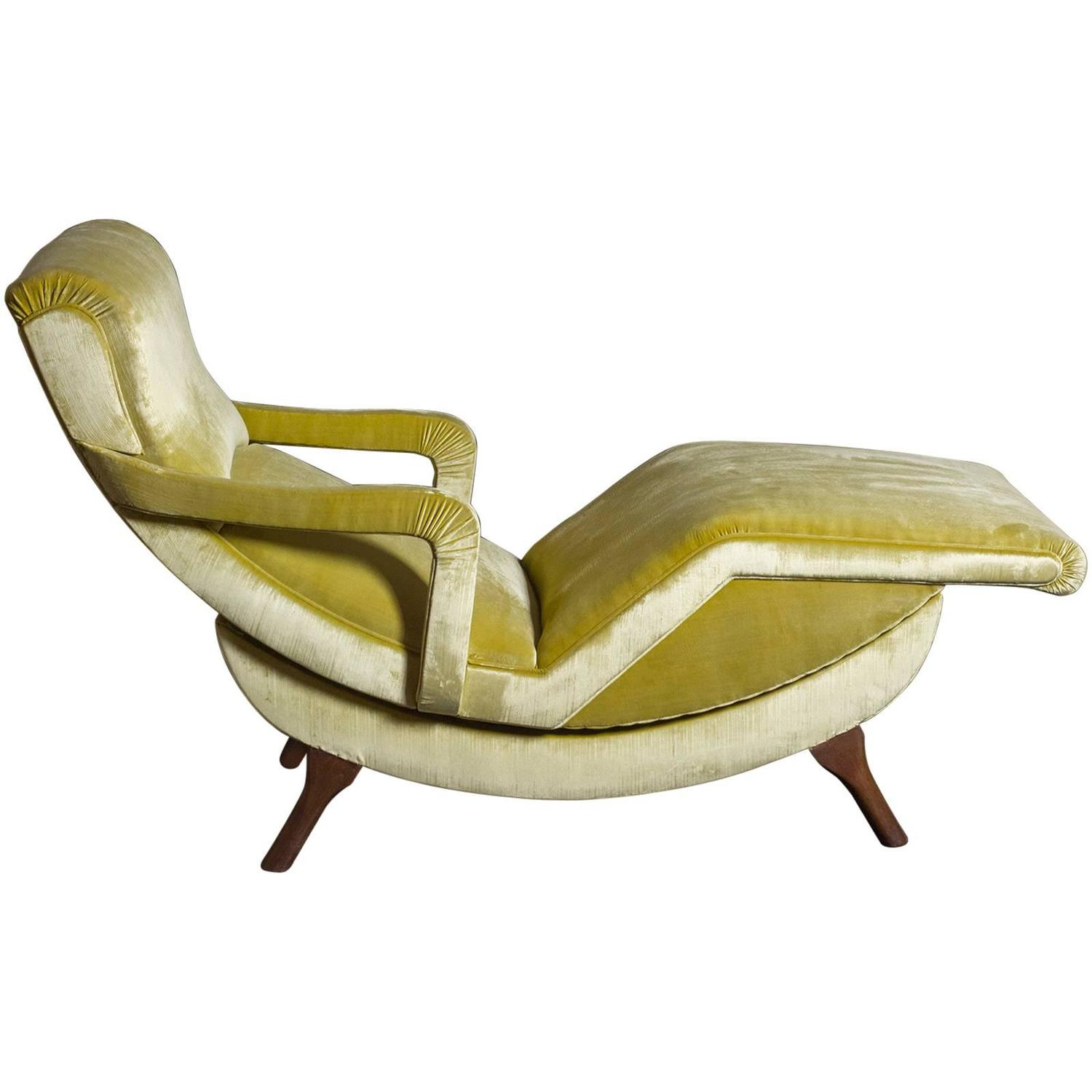 1970s italian chaise lounge at 1stdibs for Chaise 64 cm
