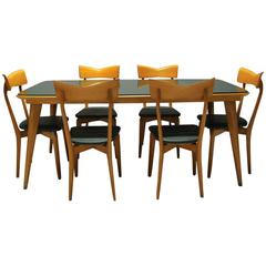 Italian Dining Set attributed to Ico Parisi for Colombo Cantú, 1950`s
