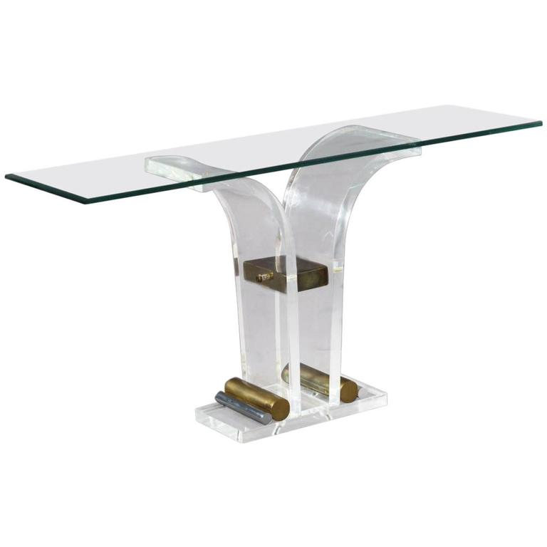 Elegant Lucite Console Table, France, 1970
