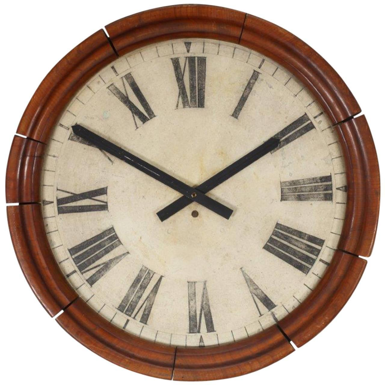Charming Train Station Clock Case Vienna 1920 For Sale