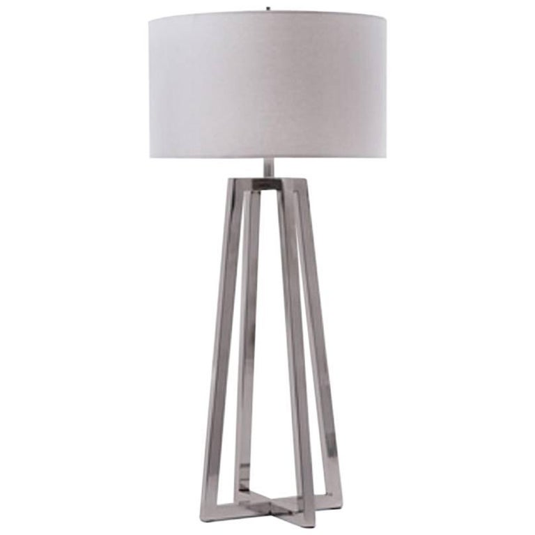 Polished Nickel Table Lamp
