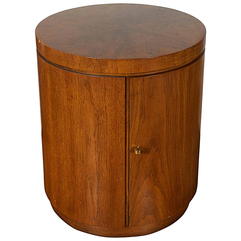 cylinder side table round drexel cylinder side table and cabinet for sale at 1stdibs