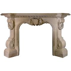 19th Century Victorian Mantel with Strong Carving Detail, VIC-ZE56