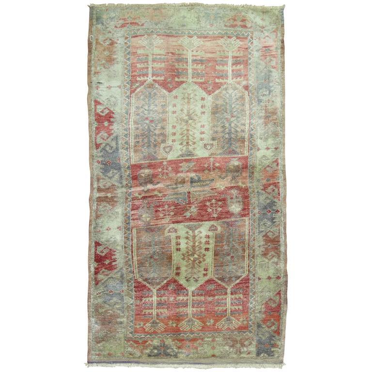 Vintage Turkish Anatolian Throw Scatter Size Rug