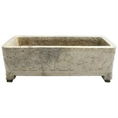Continental Carved Marble Planter, 18th Century or Earlier