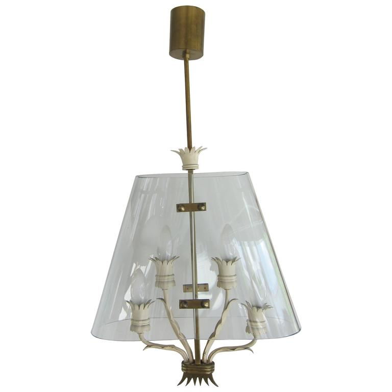 Mid-Century Modern Italian Pendant Chandelier Attributed to Pietro Chiesa