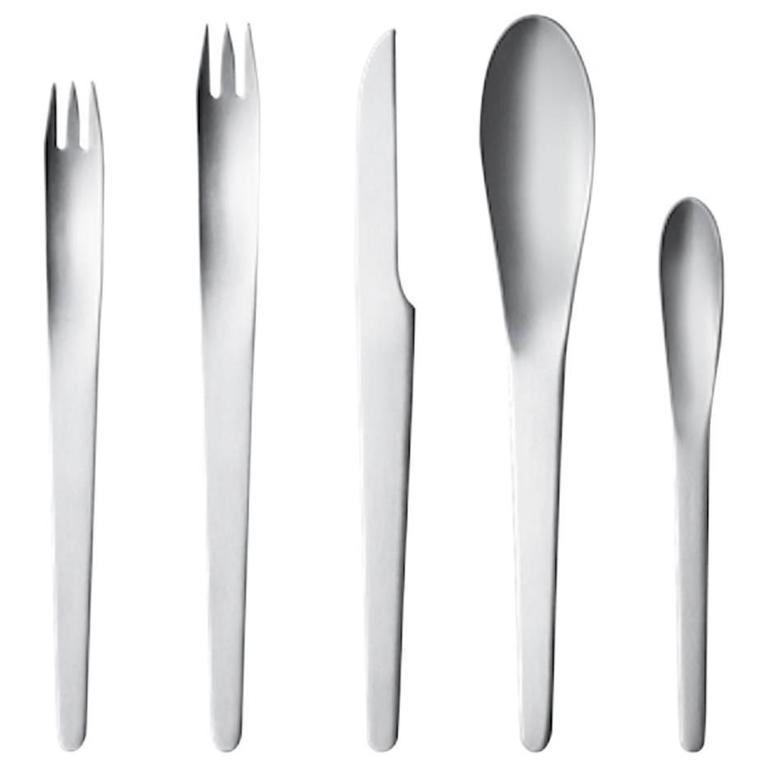 Arne jacobsen by georg jensen stainless steel flatware set for 12 service 60 pcs at 1stdibs - Arne jacobsen flatware ...