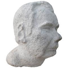 Monumental Granite Male Bust