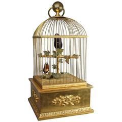 Vintage Double Singing Birds in Cage by Reuge