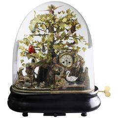 Coin-Operated Double Bird Jumper, Singing Bird Automaton Clock