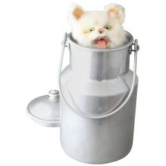 Antique Cat-in-Milk Churn Musical Automaton by Roullet & Decamps