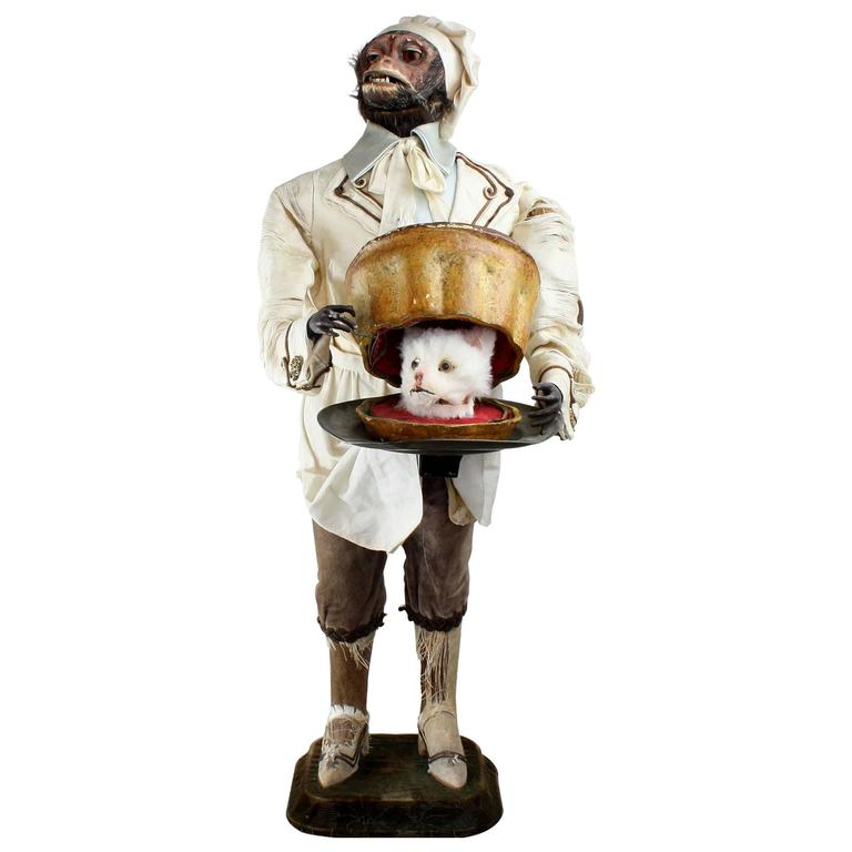 Antique Monkey Pastry-Cook Musical Automaton, by Roullet & Decamps