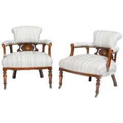 English Victorian Tub Chairs on Rosewood