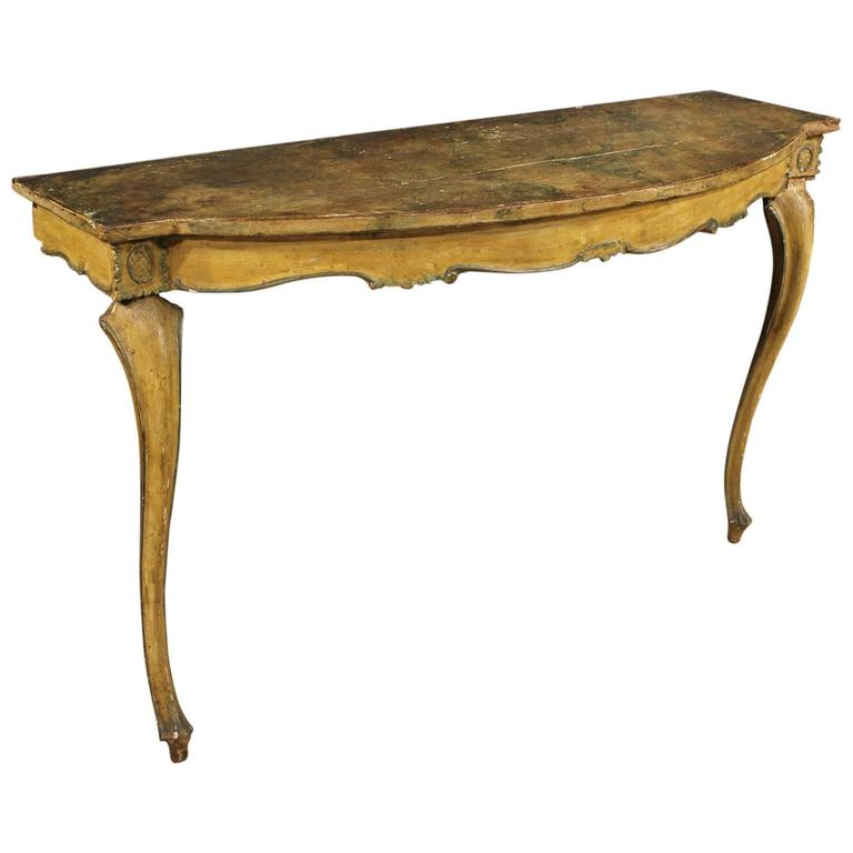 19th Century Venetian Lacquered Console Table