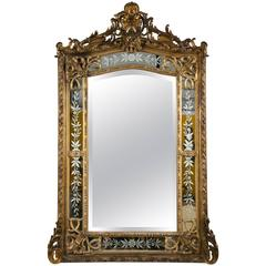 19th Century French Gilded Wood and Gesso Monumental Mirror