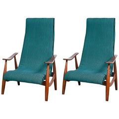 Pair of Mid-Century Modern Arm Lounge Chairs