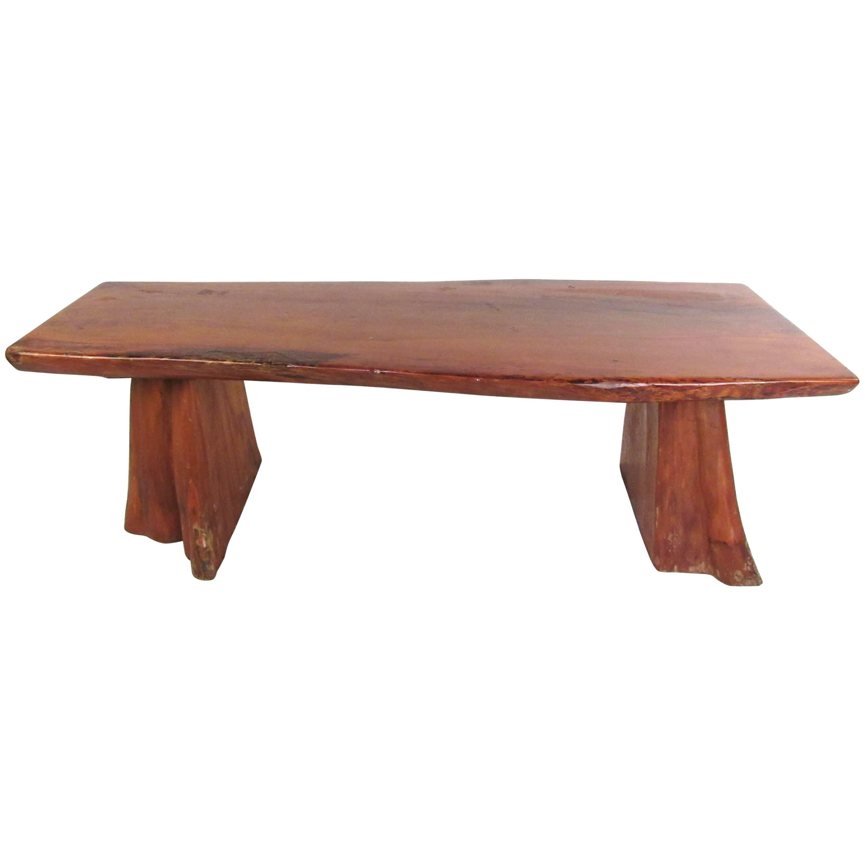 Vintage Live Edge Tree Slab Coffee Table