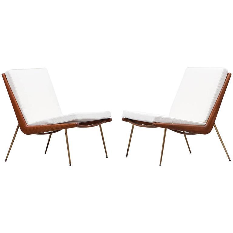 Pair of Peter Hvidt & Orla Mølgaard-Nielsen Lounge Chairs * NEW UPHOLSTERY *